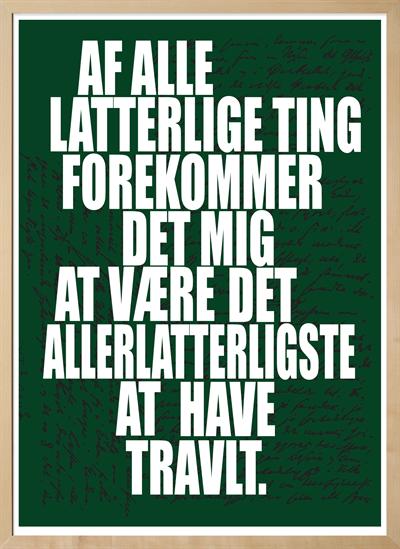 latterlige citater Søren Kierkegaard   citat plakat latterlige citater