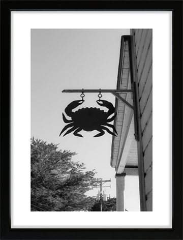 Hog Island - Crab Sign - Fotoplakat