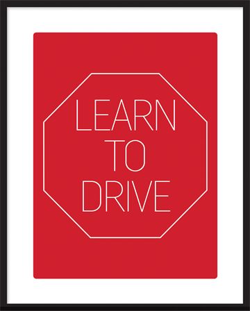 plakat - Learn to drive
